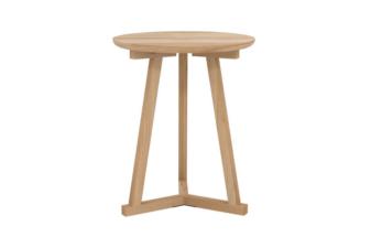 Oak Tripod side table front preview