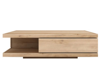 Oak flat coffee table product preview.