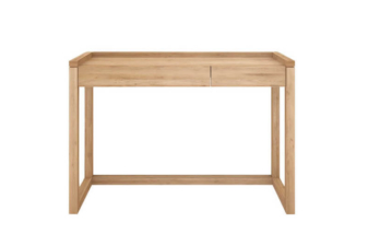Front image of oak frame pc console.