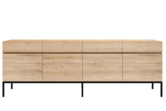 Oak Ligna 4 drawer sideboard product preview.