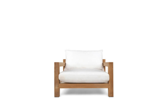 Pacific teak white armchair preview